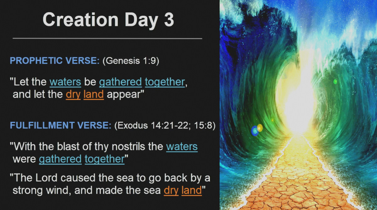 Creation Day 3 - Moses Red Sea Parting