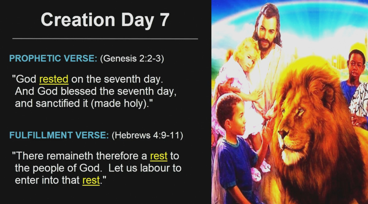 Creation Day 7 - Christ Millennial Reign